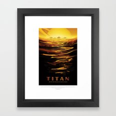 Titan - NASA Space Travel Poster Framed Art Print