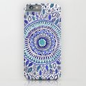 Indigo Flowered Mandala iPhone & iPod Case