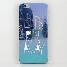 Let's Run Away: Rainier National Forest, Oregon iPhone & iPod Skin
