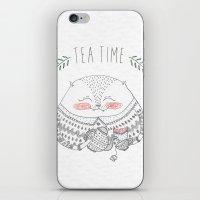 Tea Time Cat iPhone & iPod Skin
