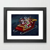 Christmas Hijackers Framed Art Print
