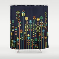 Overgrown Flowers Shower Curtain