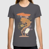 Pond Life Womens Fitted Tee Asphalt SMALL