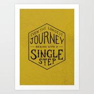 A SINGLE STEP Art Print