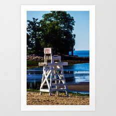 Life guard off duty - enjoy the beach Art Print