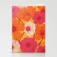 Stationery Cards featuring Summer Flowers by Tracie Andrews