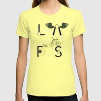 Love At First Sight And … Womens Fitted Tee Lemon SMALL
