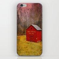 West Virginia Red Barn iPhone & iPod Skin
