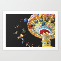 carnival lights Art Print