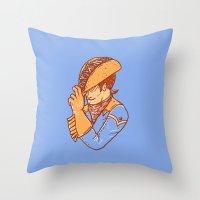Taco Cowboy Throw Pillow
