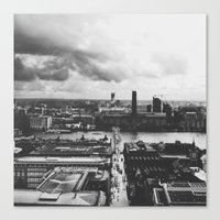 London Below (B&W) Canvas Print