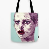 Scary Dirty Face With Re… Tote Bag