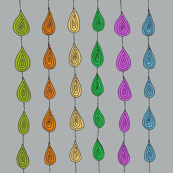 Candy Raindrops Art Print