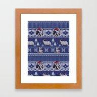 Christmas Frenchie Framed Art Print