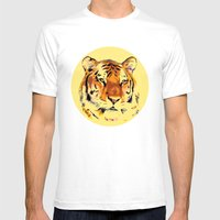 My Tiger Mens Fitted Tee White SMALL