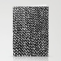 Hand Knitted Black S Stationery Cards