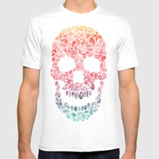 Death By Paisley White Mens Fitted Tee SMALL