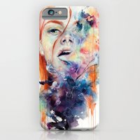 abstract iPhone & iPod Cases featuring this thing called art is really dangerous by agnes-cecile