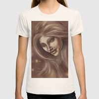 Beautiful Womens Fitted Tee Natural SMALL