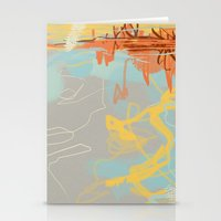 Runoff Patterns Stationery Cards