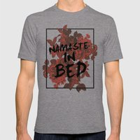 Namaste In Bed Mens Fitted Tee Tri-Grey SMALL