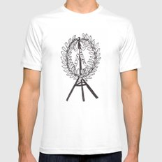 still drunk SMALL White Mens Fitted Tee