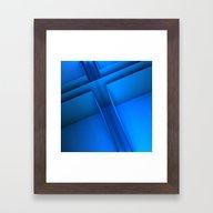 Clean Lines (Blue) Framed Art Print