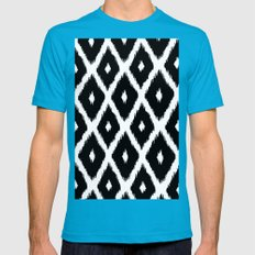 Black and White decor Mens Fitted Tee Teal SMALL