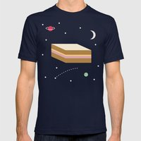 Ham & Cheese in Space Mens Fitted Tee Navy SMALL