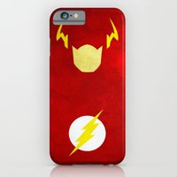 iPhone Cases featuring The Flash by theLinC