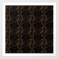 Art Print featuring 3D Gold Shapes Pattern by Daphna Dotan