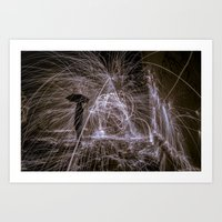 Raining Fire Art Print