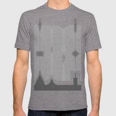 Asymmetry 1 Mens Fitted Tee Tri-Grey SMALL