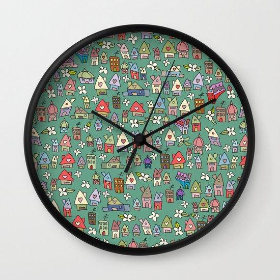 Houses - eco Wall Clock