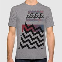 Paisley Chevrons Mens Fitted Tee Athletic Grey SMALL