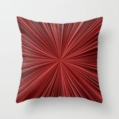 Maroon burst Throw Pillow