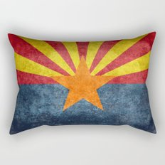 Arizona state flag - vintage retro style Rectangular Pillow