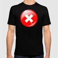 404 Mens Fitted Tee Black SMALL