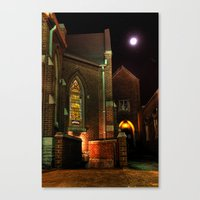 Stained Glass Starry Night Canvas Print