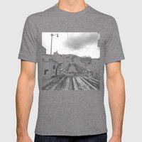 Duboce Tunnel Again Mens Fitted Tee Tri-Grey SMALL