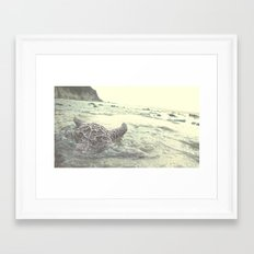 into the abyss  Framed Art Print