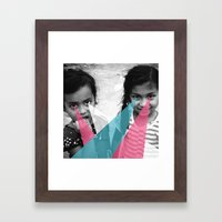 Nepal Eyes Framed Art Print