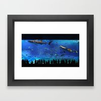 Chaurami Aquarium Whale Shark Tank Framed Art Print