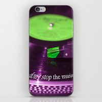 Don't stop the music iPhone & iPod Skin