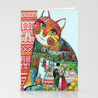 Russian Cat : Stationery Cards