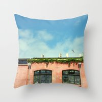 all covered in vines Throw Pillow