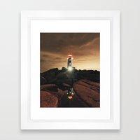 Glow of the Street Framed Art Print