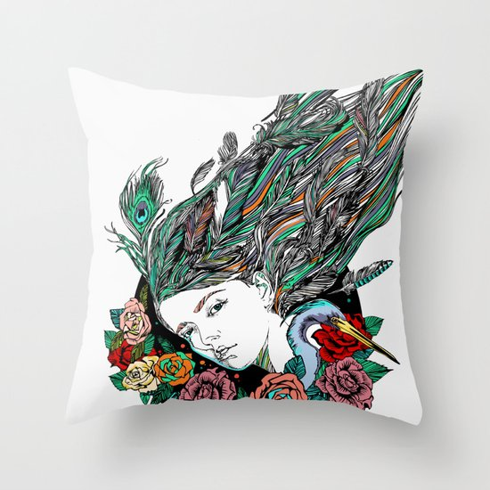 Feather Dream Throw Pillow