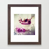 BLACK TEA Framed Art Print
