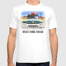 Built Ford Tough Mens Fitted Tee White SMALL